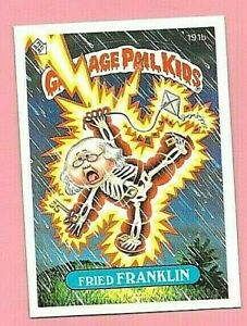 GARBAGE PAIL KIDS FRIED FRANKLIN CARD NR-MT