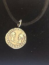 "Denarius Vespa Roman Coin WC27 Made From Fine Pewter On 18"" Black Cord Necklace"