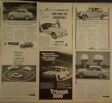 1959 1960 Triumph Herald 1966 2000 TR2 Hard Top Convertible Ad Advertising Lot