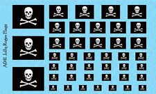 Small Scale Jolly Roger Pirate Waterslide Decals for action figures Version 1
