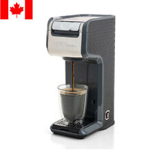 2 In 1 Single Serve Coffee Maker Brewer, Ground & K-Cup Pods, Slim Design, Grey