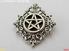 steampunk brooch badge pin gothic pentagram pentacle horror hallowe'en evil dead