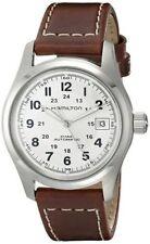 Hamilton H70455553 Khaki Field Silver Dial Brown Leather Strap Automatic Watch