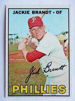Jackie Brandt #142 Topps 1967 Baseball Card (Philadelphia Phillies) VG