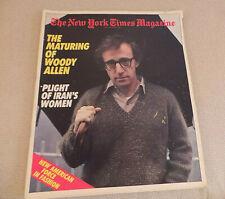 New York Times Magazine Woody Allen; Iran's Women; Fashion; May Chinn Apr 1979