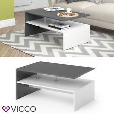 Vicco AMATO 90x60cm Couchtisch mit Ablageboden - Weiß (1-WF4-23159)