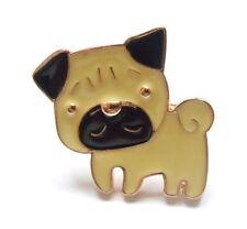 Pug Cachorro Perro Esmalte Pin Broche-Lindo Albaricoque Kawaii Estilo Anime Insignia De Solapa