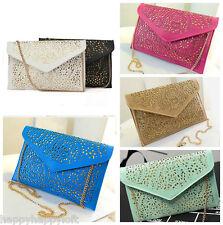 Lace Cutout Envelope Clutch Bag Messenger Ladies Summer Party Handbag Wedding