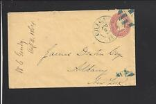 CHICAGO, ILLINOIS 1863 3CT COVER, BLUE FANCY CANCEL, COOK CO. /OP.