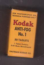 KODAK ANTI-FOG TABLETS VINTAGE