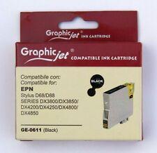 Cartuccia Compatibile GRAPHIC JET per Epson T0611 colore NERO inchiostro 13 ml