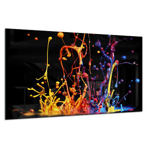 Photo Print Wall Art Picture Tempered Glass Splash Colorful Paint Prizma GWA0317