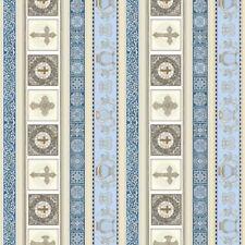 QT Heavenly by Dan Morris 24569 B Lt Blue Decorative Stripe BTY Cotton Fabric