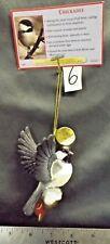 "The Danbury Mint The Song Bird Ornament ""Chickadee"" Figure Euc"