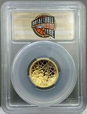 2020-W Proof $5 Gold Basketball Hall of Fame PCGS PR70DCAM FS HOF Label -IN HAND