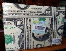 TWIN $100 DOLLAR BILL PRINT BED SHEET SET MONEY