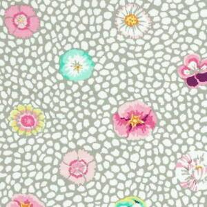 Free Spirit Kaffe Fassett Classic Cotton Fabric Guinea Flower PWGP059-Grey BTY