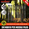 "10pc Needle File Set 5.5"" 140MM Diamond Jewelers Ceramic Tile Glass US FAST SHIP"