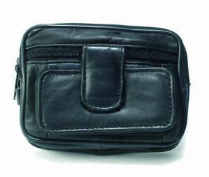 Leather Mens Belt/Wrist BAG WALLET Camera Handy Pockets