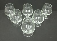 Set of 6 Vintage Etched Wheat Cordial Apertiff Little Ballon Glasses