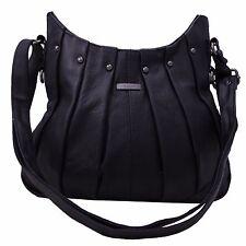 NEW Ladies Women Genuine Leather Handbag Soft Cross Body Shoulder Bag Black 3731
