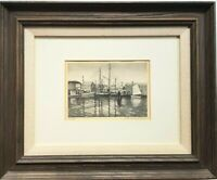 Vintage Lithograph Ruth Haviland Sutton IN PORT NANTUCKET MA Signed Original