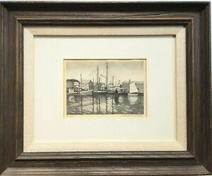 Vintage Lithograph Ruth Haviland Sutton IN PORT NANTUCKET MA Signed Original