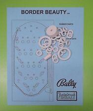 1965 Bally Border Beauty pinball / bingo rubber ring kit