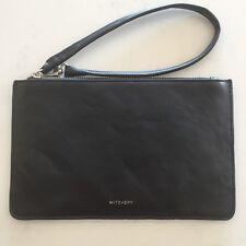 WITCHERY Black Zip Up Pouch Purse Clutch Bag