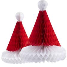 Christmas Hanging Honeycomb Decorations Wall Pendants Santa Claus Hats Ornaments