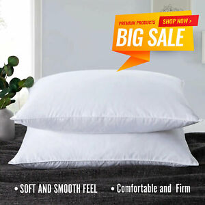 Hotel Quality Deep Filled Pillows Super Bounce Back Firm Deluxe Bed Pillow-Pair