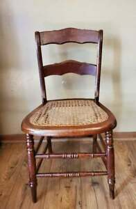 Vintage Cane Seat Dining Chair Solid Maple #2