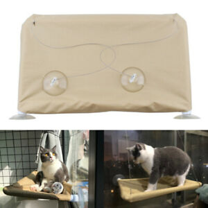 Home Hanging Hammock Cat Nest Bed Perch Basking Cushion Balcony Shelf Seat Pet