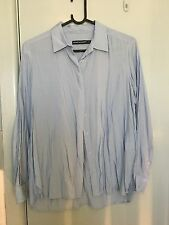 Sportscraft blue cotton silk shirt in size 8