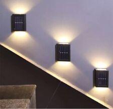 2 X Warm Atmospheric Wireless Solar Outdoor Wall Light