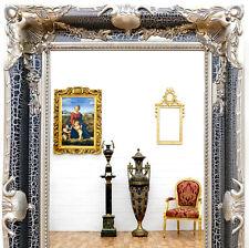 SPIEGEL BAROCK DESIGN ANTIK SILBER SCHWARZ ca.150cm LUXUS WANDSPIEGEL SILBERN