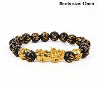 Feng shui bracelet porte-bonheur chance obsidienne richesse