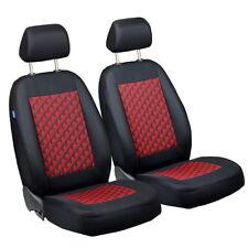 Schwarz-rot Effekt 3D Sitzbezüge für FIAT BARCHETTA Autositzbezug VORNE
