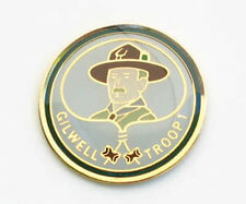 "WOOD BADGE 1"" BADEN POWELL HAT PIN - ROUND WOODBADGE"