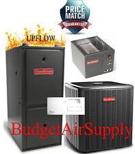 3 Ton Goodman 13 seer 95/96% 100K BTU Gas Furnace UPFLOW System GMSS961005CN