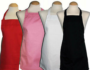 100 % cotton Aprons ** 3 yrs - teenage ** great for school / craft / baking
