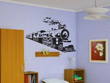 Wall Vinyl Sticker Decals Decor Mural Train Locomotive Railroad   #156