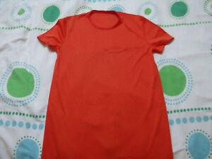 tee shirt long orange fluo 36 couleur vive BON ETAT