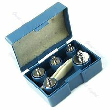 5PCs 50g 20g 10g 5g Grams Precision Chrome Calibration Echelle Poids Set Kit