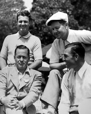 Golfers BYRON NELSON, BEN HOGAN, JIMMY DEMARET & BOBBY JONES Glossy 8x10 Photo