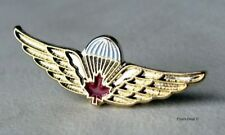 Canadian Airborne Basic Parachutist Red Maple Leaf Wing Small Lapel Pin