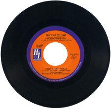 """Milt Matthews """"detener ese tren C/W este es mi canción"""" del norte/moderno! escucha!"""