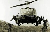 Vietnam War Photo US Soldiers Jumping from a Huey Helicopter 561
