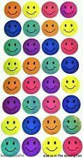 Ek éxito sticko Metálico Stickers-Smiley, caras felices