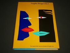 1986 GRAPHIC DESIGN USA NO. 7 HARDCOVER BOOK - GREAT PRINTS - I 580